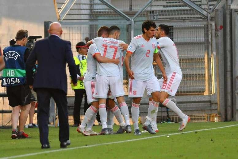 Así quedan las semifinales del Europeo Sub 21 de Italia 2019. EFE