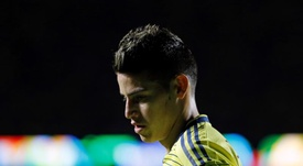 James Rodriguez durant le match Colombie-Qatar en Copa América. EFE