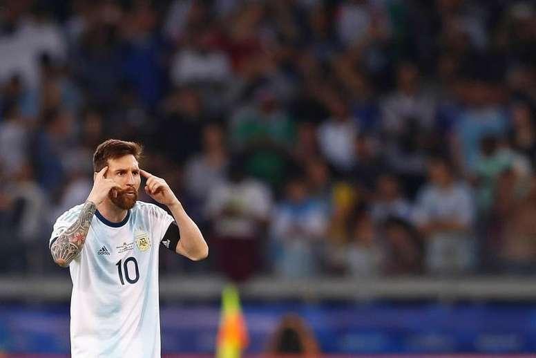 Messi sent Scaloni a message. EFE