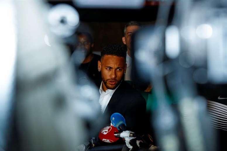 Neymar no se presentó a entrenar. EFE/Archivo