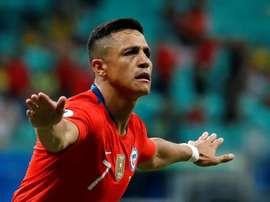 Le numéro 7 d'Alexis Sanchez est déjà vendu à Milan. EFE