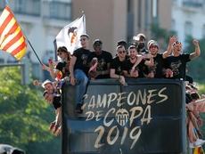 El Valencia conmemora sus Copas de junio. EFE/Archivo