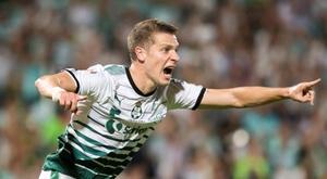 Santos Laguna ganó por 2-0. EFE