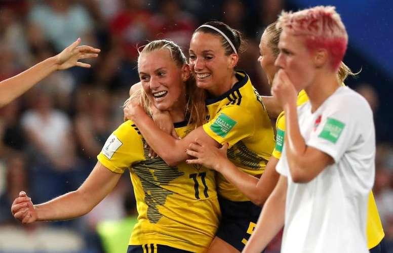 Lidndahl fue la heroína de su equipo. EFE
