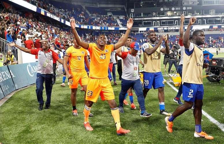 Haití hace historia en la Copa Oro. EFE