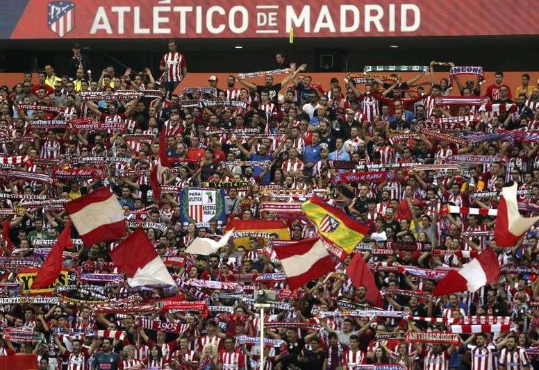 O Atlético não esquece de sua torcida. EFE