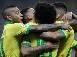Joueurs de la sélection brésilienne. EFE