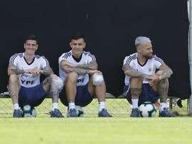 De Paul fala sobre Messi. EFE