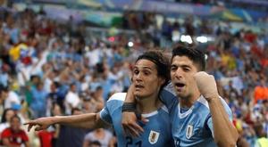 Cavani e Suárez foram os responsáveis pelos gols uruguaios. Arquivo/EFE