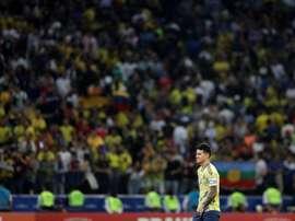 James comenta a eliminação da Colômbia. EFE