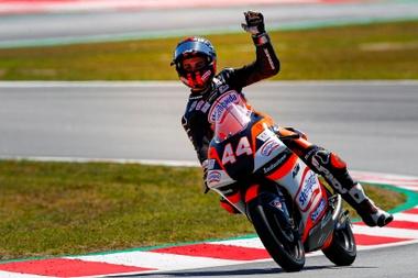 El piloto español de Moto3, Aron Canet. EFE/ Enric Fontcuberta/Archivo