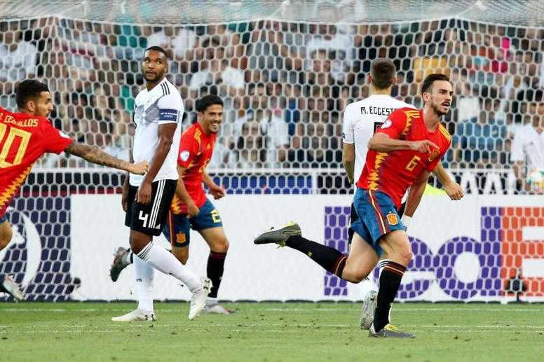 Fabián Ruiz tiene claras sus raíces. EFE