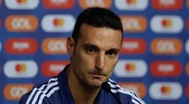 Scaloni destacó la actitud del equipo. EFE