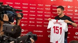 Pablo Sarabia abandonó el Sevilla el pasado verano. EFE/Archivo