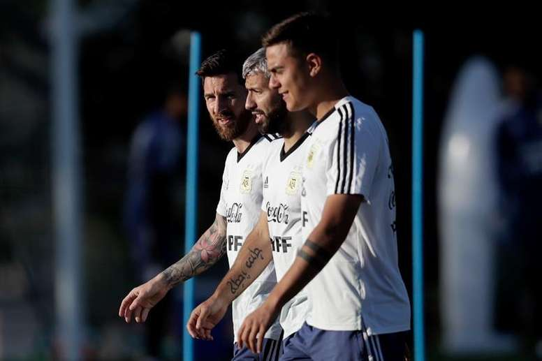 Messi y Argentina, de 'paso' por Mallorca. EFE