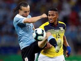 Valencia volvió a Ecuador a cerrar su carrera. EFE