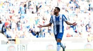 Borja Iglesias et Mario Hermoso joueront face à Peralada. EFE
