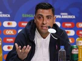 Jara mostró su arrepentimiento por la polémica jugada ocurrida ante Uruguay. EFE