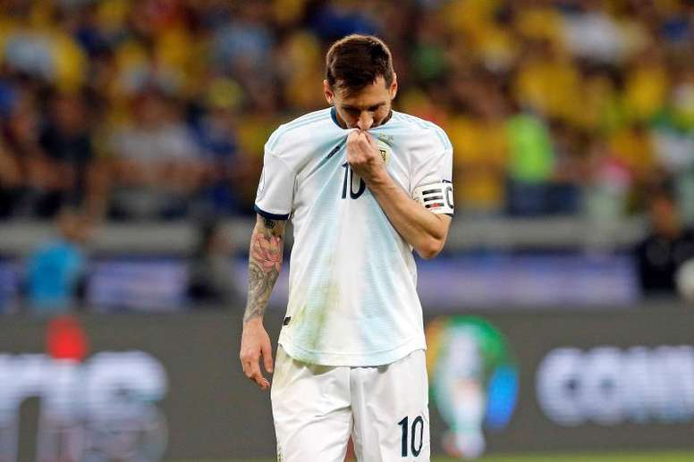 Messi's mother spoke about the criticism Messi receives from Argentina. EFE/Antonio Lacerda