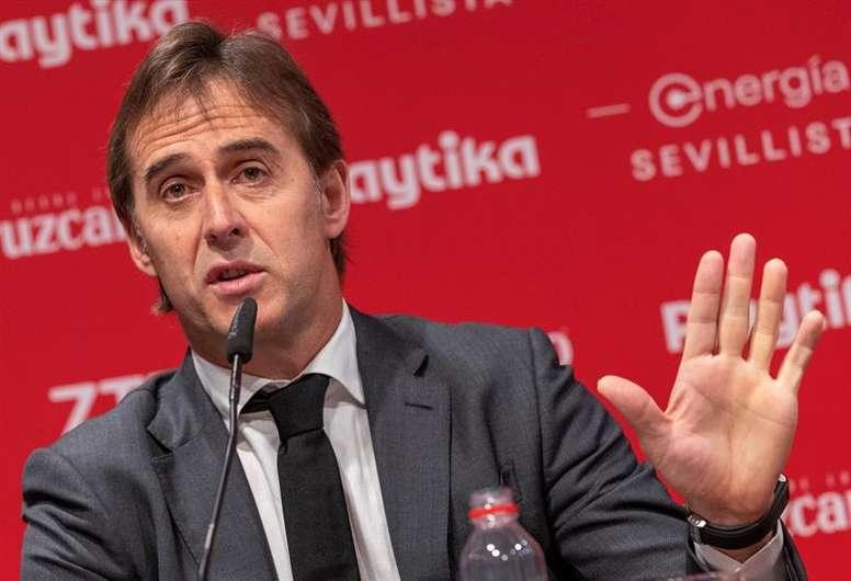 El Sevilla de Lopetegui jugará vertical y veloz. EFE