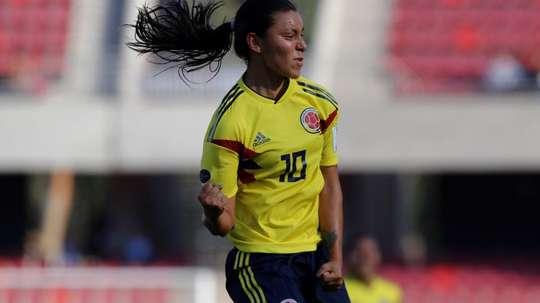 Yoreli Rincón, apuesta de Junior para el título. EFE/Leonardo Rubilar Chandía