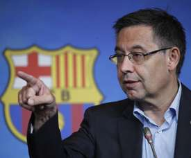 Spanish radio stations say that Bartomeu is going to writeto Rubiales to complain about the VAR. AFP