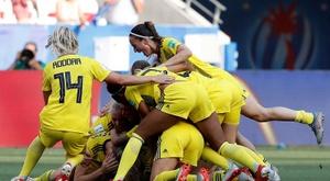 Jogadoras da Suécia terão apoio do futebol masculino. EFE/EPA/SEBASTIEN NOGIER