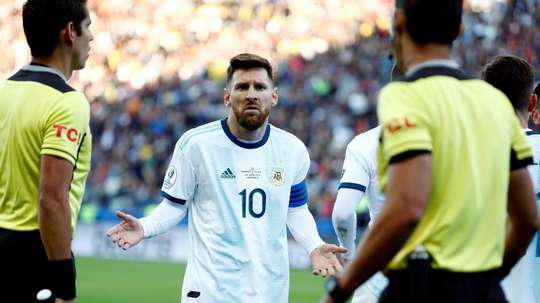 Messi could face a serious sanction from CONMEBOL. EFE/Sebastião Moreira
