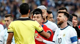 La supuesta carta de Messi pidiendo disculpas a la CONMEBOL. EFE
