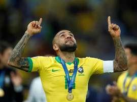 36 ans, sans équipe et MVP de la Copa América. EFE/Yuri Edmundo
