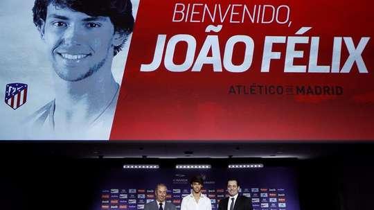 João Félix assentou perfeitamente no Atlético de Madrid e faz sonhar os adeptos. EFE