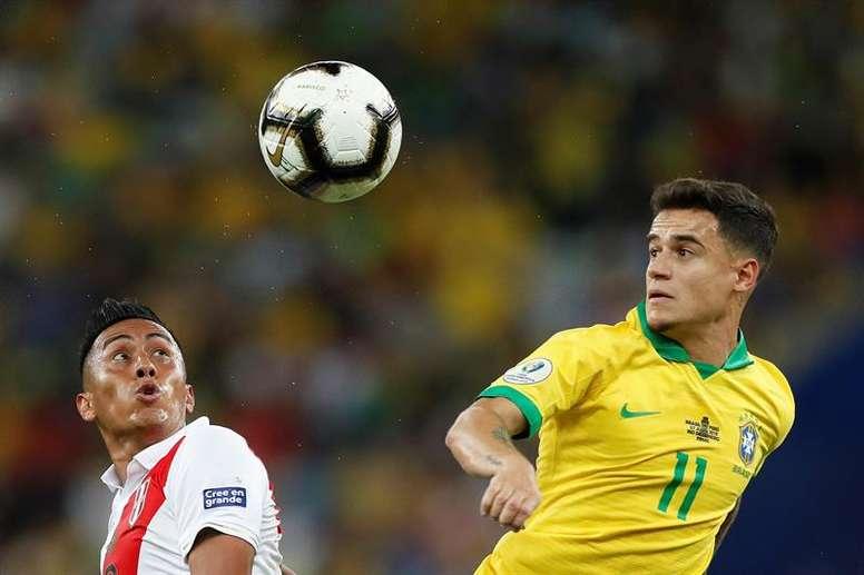 Un amical Brésil-Pérou en septembre pour une revanche. EFE/Antonio Lacerda