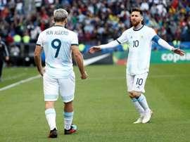 L'Albiceleste avec Leo Messi mais sans Di Maria. afp