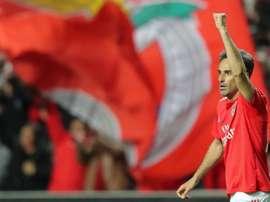 A despedida de Jonas do Benfica. EFE/ Miguel A. Lopes/Archivo