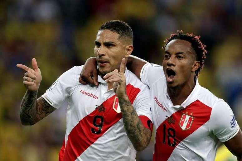 Perú y su sorpresa por la inconcebible suspensión del amistoso ante Chile. EFE/Fernando Bizerra