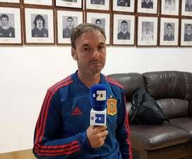 Santi Denia s'est montré heureux d'avoir gagné l'Euro U19. EFE