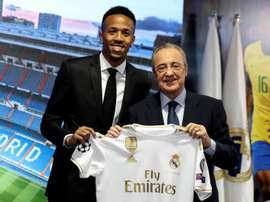 Militao said it had always been his dream to play at Real Madrid. EFE/J.J.Guillen