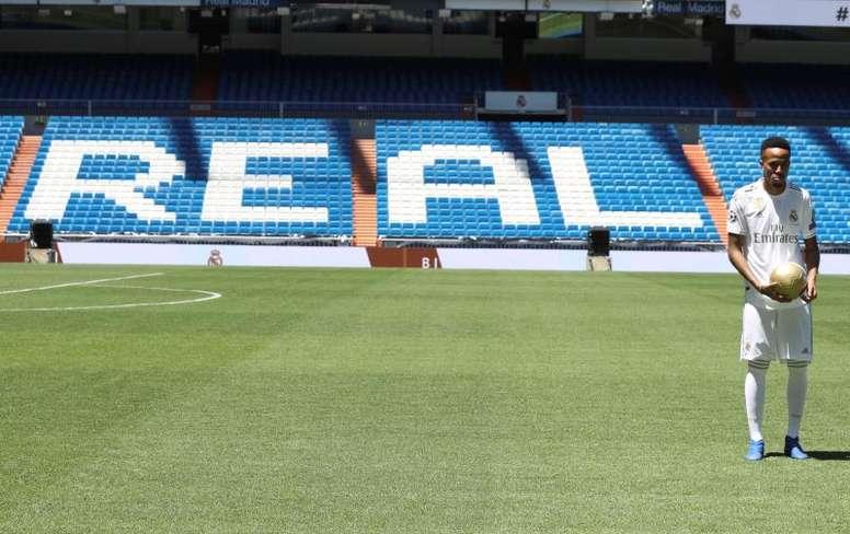 Militao será titular ante el City por la baja de Ramos. EFE/Archivo