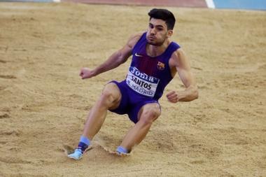 El atleta Héctor Santos. EFE/JuanJo Martín/Archivo