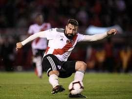 Flamengo quer Lucas Pratto, do River Plate. EFE/Matías Gabriel Napoli/Archivo