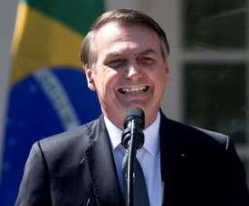 Bolsonaro criticó en público a Lionel Messi. EFE