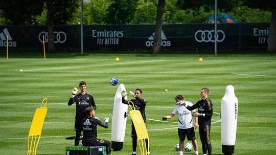 O primeiro dia livre do Real Madrid em Montreal. EFE
