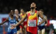 Fernando Carro, nuevo plusmarquista español de 3.000 m obstáculos. EFE/Srdjan Suki/Archivo