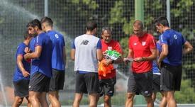 El Athletic ya está en Alemania. EFE
