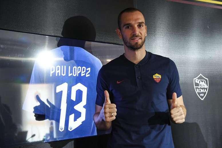 Pau López se bajó el sueldo para ir a la Roma. EFE