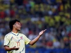 Cuadrado avala la llegada de James a la Serie A. EFE