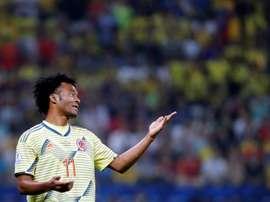 Cuadrado é a alma da Seleção da Colômbia. EFE/Paulo Whitaker