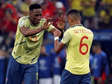 Yerry Mina defendió a Tesillo. EFE