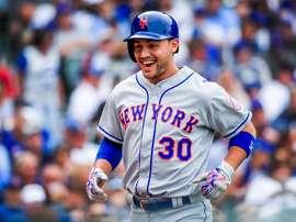 Michael Conforto, guardabosques Mets de Nueva York. EFE/TANNEN MAURY/ARCHIVO