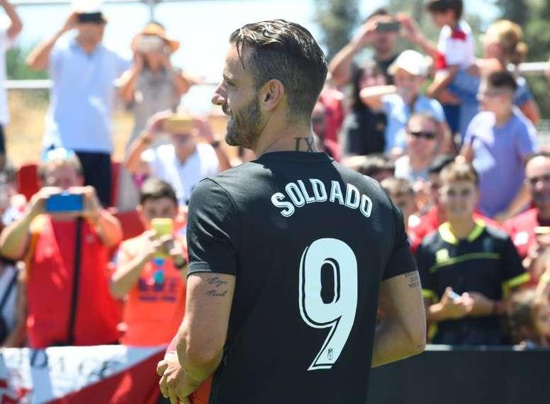 Soldado respetará al Villarreal si marca. EFE